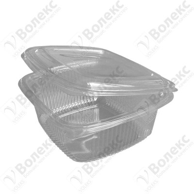 Disposable container with cover 1000ml FT 208-1000 РЕТ