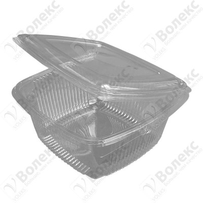 Disposable container with cover 1500ml FT 208-1500 РЕТ