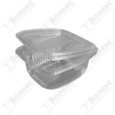 Disposable container with cover 500ml FT 208-500 РЕТ